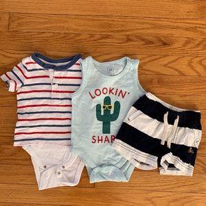 Baby gap 3-6m set (baby boy)
